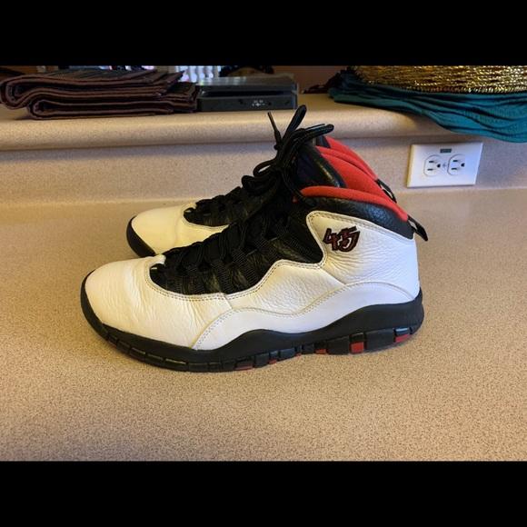 online store c0747 494d1 Nike Air Jordan Retro 10 White Black Red Men's 9